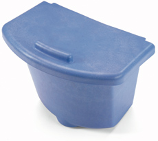 30-litre Waste Bin with Lid, Blue