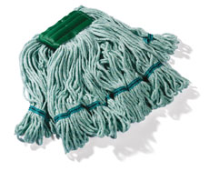 Monsoon Bactiguard 400g Loop and Web Kentucky Mop, Green (10 pack)
