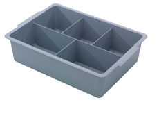 Deep 120mm Full Tray with Divisions, Grey