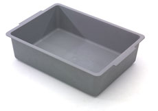 Deep 120mm Full Tray No Divisions, Grey