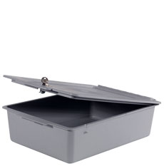 Deep 120mm Full Tray No Divisions plus Lid, c/w Lock