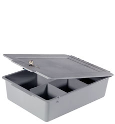 Deep 120mm Full Tray with Divisions plus Lid, c/w Lock