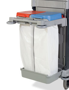NKA102P End Kit, 140L (2x 70L) Moulded Twin Waste Bag Kit with Split Lid
