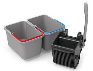 Kit SRK16 - 2x 17L Buckets and Vertical Press with foam pad insert