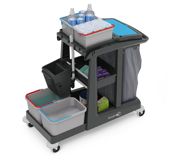 ECO-Matic EM3 Cleaning Trolley